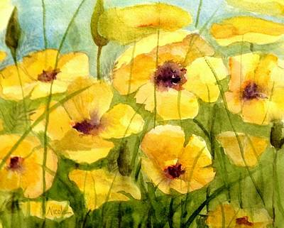 Royalty-Free and Rights-Managed Images - Yellow Poppies by Nicole Curreri