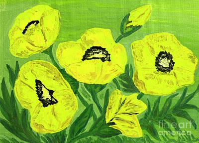 Painting - Yellow Poppies, Oil Painting by Irina Afonskaya