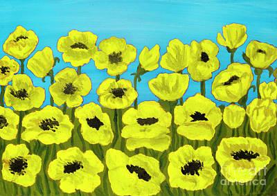 Painting - Yellow Poppies, Painting by Irina Afonskaya