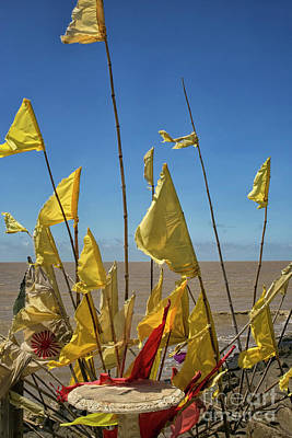 Photograph - Yellow Prayer Flags by Patricia Hofmeester