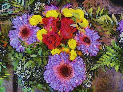 Yellow Purple Art Print by Dennis Wickerink