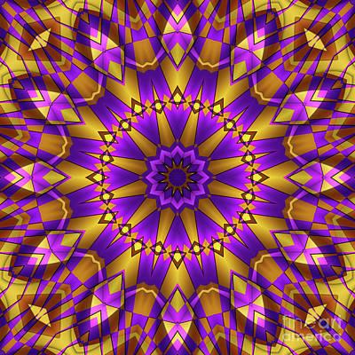 Photograph - Yellow Purple Kaleidoscope by Ludek Sagi Lukac
