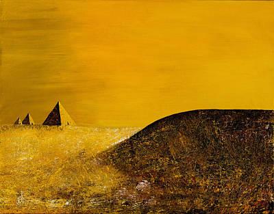 Yellow Pyramid Art Print by Mayhem Mediums