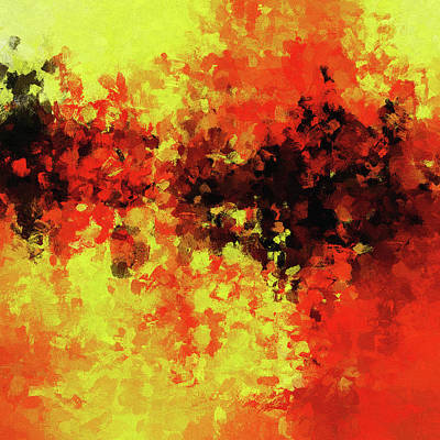 Painting - Yellow, Red And Black by Inspirowl Design