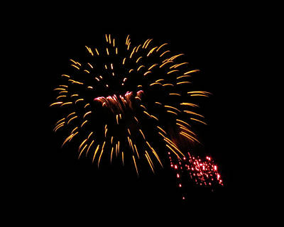 Photograph - Yellow Red Fireworks by Kyle J West