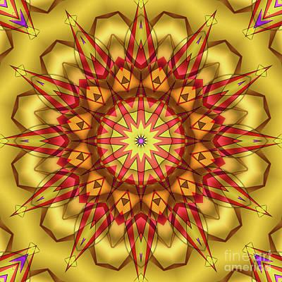 Photograph - Yellow Red Kaleidoscope by Ludek Sagi Lukac