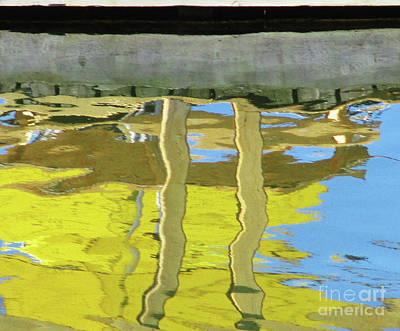Photograph - Yellow Reflection by Randall Weidner