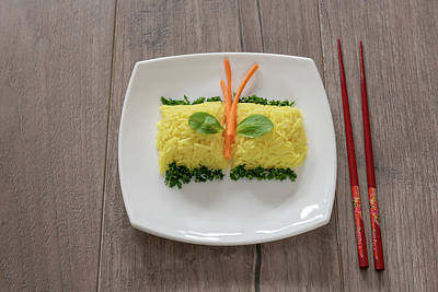 Photograph - Yellow Rice With Saffron. Indian Cuisine  by Julian Popov