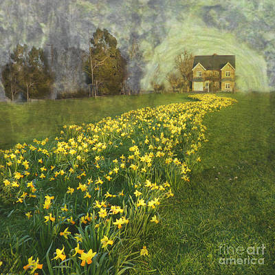 Yellow River To My Door Art Print by LemonArt Photography