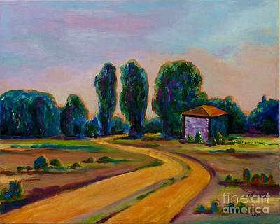 Painting - Yellow Road by Ushangi Kumelashvili