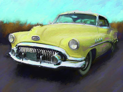 Digital Art - Yellow Roadmaster by David King