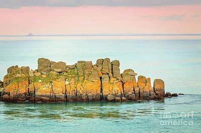 Seascape Photograph - Yellow Rocks by Sasha Samardzija