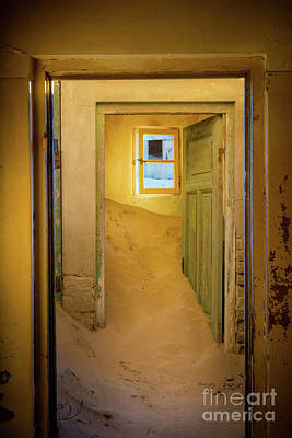 Delapidated Photograph - Yellow Room by Inge Johnsson