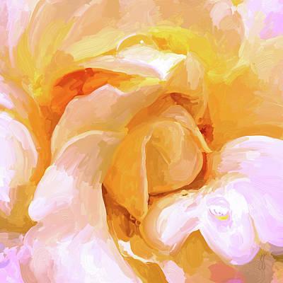 Painting - Yellow Rose - Square by Jai Johnson