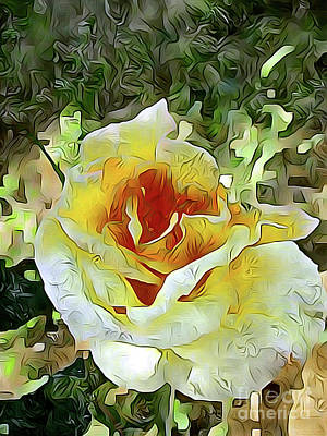 Yellow Rose 04 ...21.39 Rose Rose Image Art Print