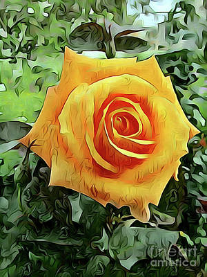 Photograph - Yellow Rose 04 ...56.09 Rose Rose Image by S Art