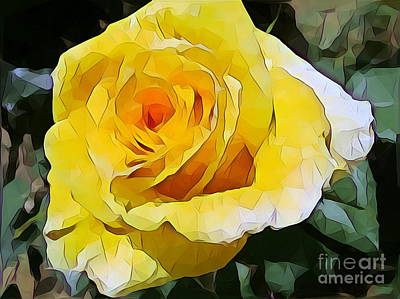 Yellow Rose 06 ... 15.46 Rose Rose Image Art Print
