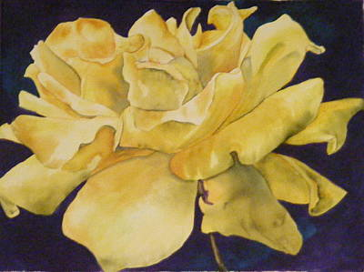 Painting - Yellow Rose 101 by Diane Ziemski