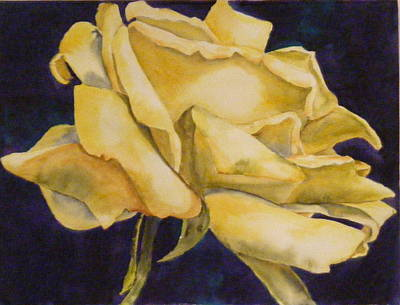 Painting - Yellow Rose 102 by Diane Ziemski