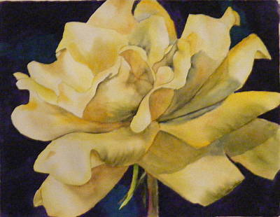 Painting - Yellow Rose 103 by Diane Ziemski