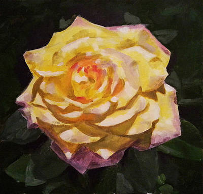 Yellow Roses Painting - Yellow Rose by Angelina Sofronova