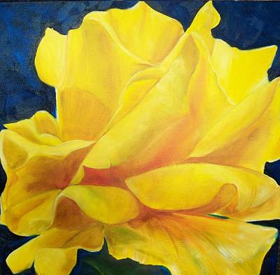 Painting - Yellow Rose by Dana Redfern