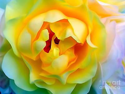Digital Art - Yellow Rose by Ed Weidman