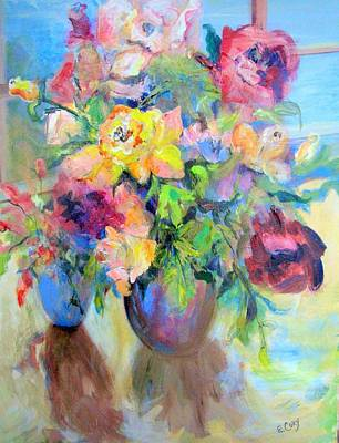 Yellow Rose Art Print by Elaine Cory