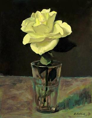 Painting - Yellow Rose No. 1 by Robert Holden
