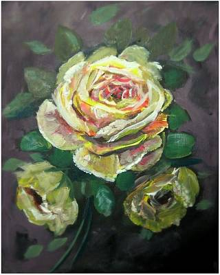 Painting - Yellow Rose by Mike Benton