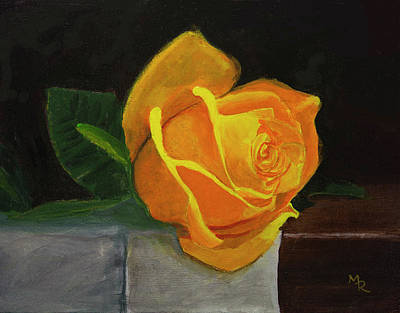 Painting - Yellow Rose by Mike Robles