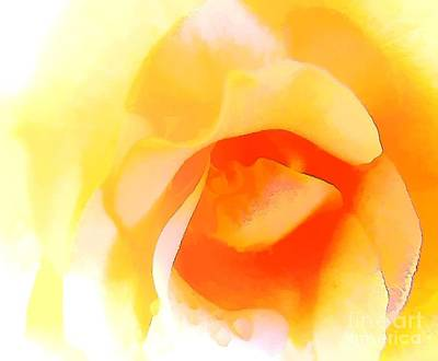 Painting - Yellow Rose Modern Art Painting by Robyn King