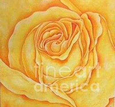 Yellow Rose Of Texas Painting - Yellow Rose Of Texas by Connie Maness