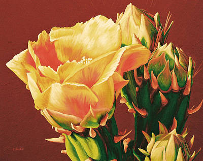 Painting - Yellow Rose Of The Desert by Cheryl Fecht