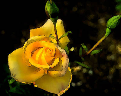 Photograph - Yellow Rose 2 by Peggy Cooper