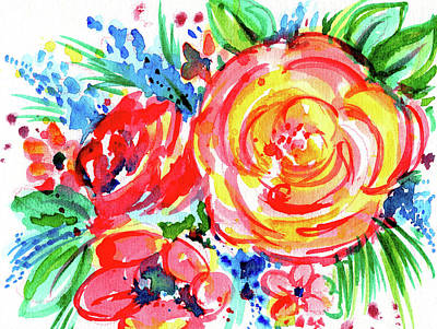 Painting - Yellow Rose Red by Nada Meeks