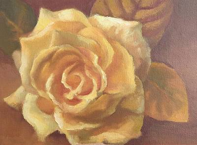 Painting - Yellow Rose by Sharon Weaver