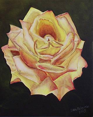Yellow Rose Art Print by Silvia Philippsohn