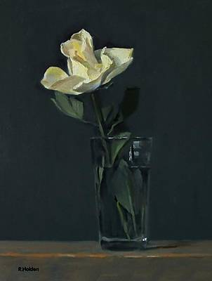 Painting - Yellow Rose No. 2 by Robert Holden
