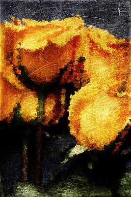 Yellow Roses Art Print by Andrea Barbieri