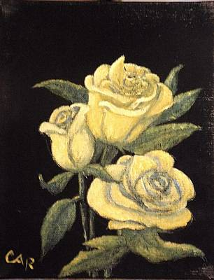Painting - Yellow Roses by Charles Ray