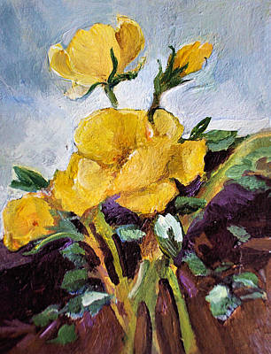 Painting - Yellow Roses by Diane Ursin