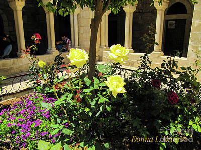 Photograph - Yellow Roses by Donna L Munro