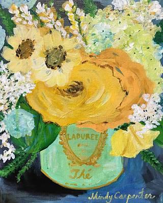 Yellow Roses In Laduree Art Print
