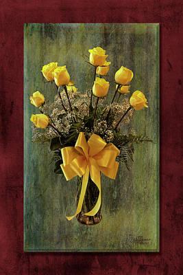 Photograph - Yellow Roses by Jim Ziemer