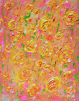 Painting - Yellow Roses Of Texas by Alys Caviness-Gober