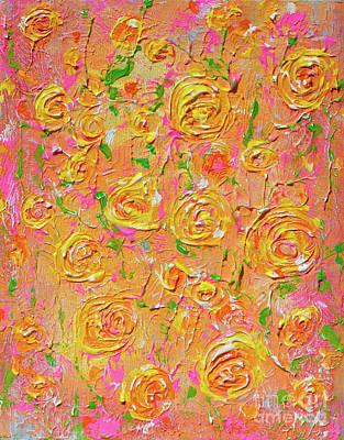 Yellow Roses Of Texas Art Print