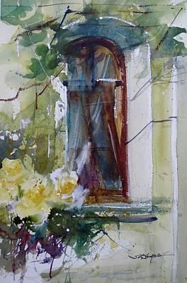 Painting -  Yellow Roses Of Veliko Turnovo by Sandra Strohschein