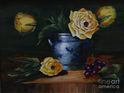 Painting - Yellow Roses by Pat Heydlauff
