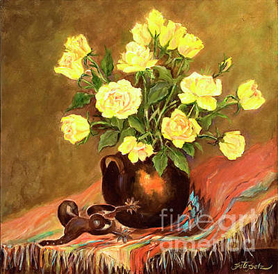 Painting - Yellow Roses by Pati Pelz